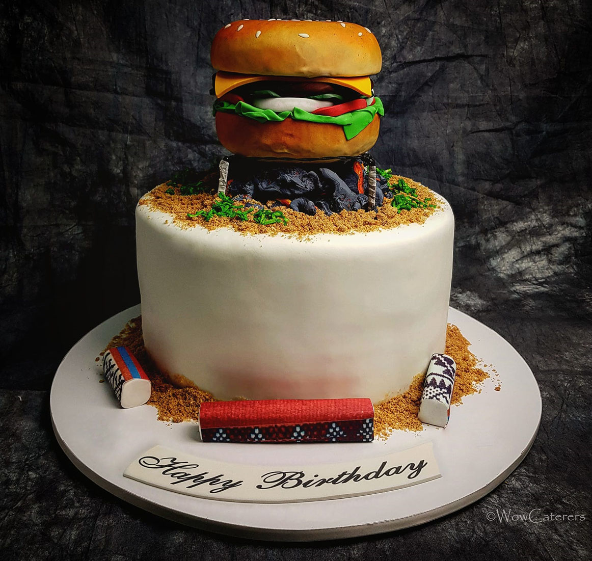 Burger Theme Cake Wow Caterers