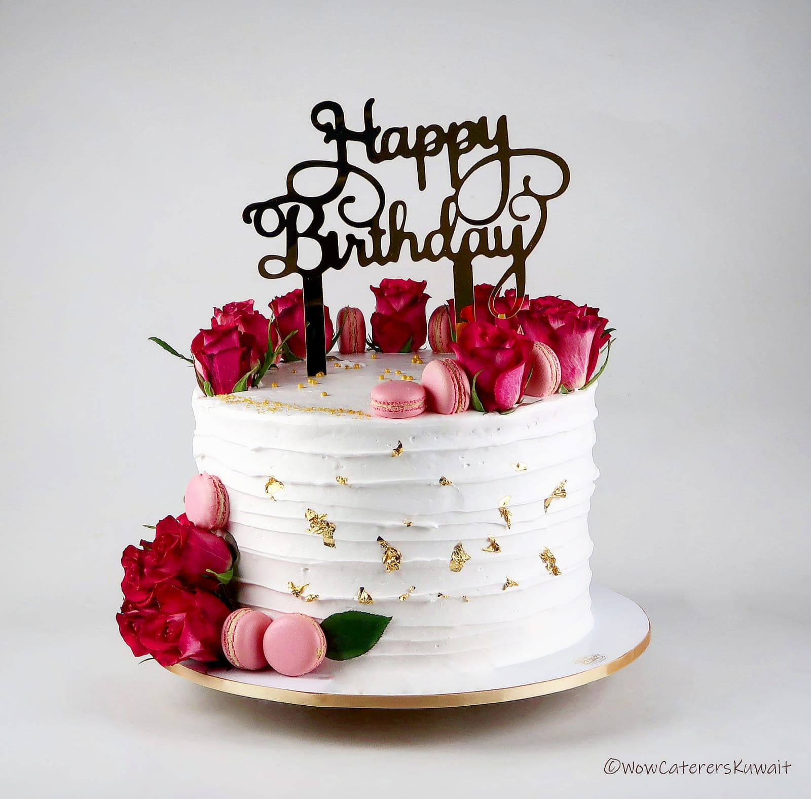 Happy Birthday Gold Cake - WOW Caterers